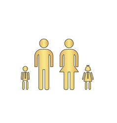 Happy Family computer symbol vector image
