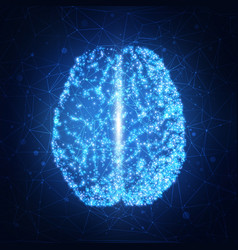 human brain abstract technology background vector image