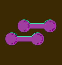 Icon in flat design dumbbells vector