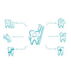 Infographic for a dental clinic vector