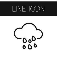 Isolated cloud outline rain element can b vector