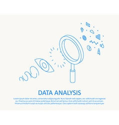 isometric thin line design concept data analysis vector image