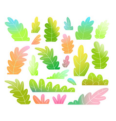 kids leaves or trees colorful and vibrant clip art vector image