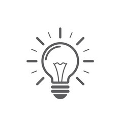 lamp line icon on white background energy and vector image