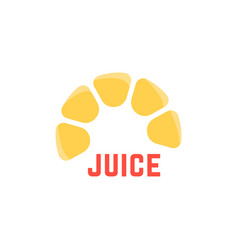 lime juice simple logo vector image