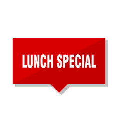 Lunch special red tag vector