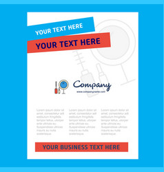 Makeup title page design for company profile vector