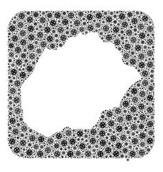 Map alegranza island - flu virus collage with vector
