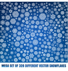 Mega set of 328 different snowflakes eps 10 vector