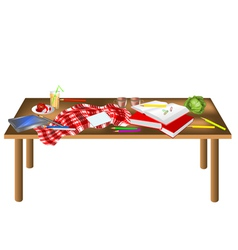 Messy table vector