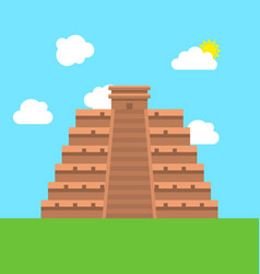 mexico chichen itza tulum kukulcan pyramid vector image