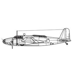 Mitsubishi ki-21 sally gwen vector