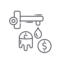Money laundering icon linear isolated vector