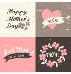 Mothers day cards set1c vector
