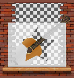 musical pattern brick wall vector image