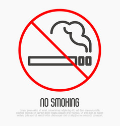 No smoking thin line sign vector