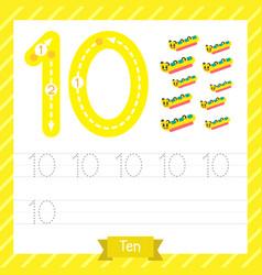 Number 10 transportation tracing worksheet vector