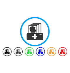 patient catalog rounded icon vector image