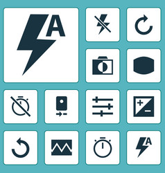 Picture icons set with reload broken image tune vector