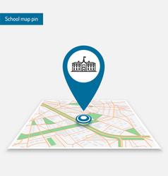pin school logo template location map vector image