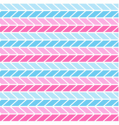 pink and blue geometric seamless zigzag pattern vector image