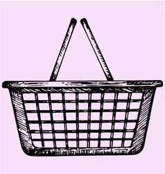 plastic shopping basket vector image