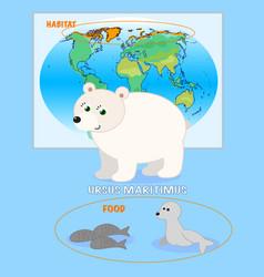 polar bear card vector image