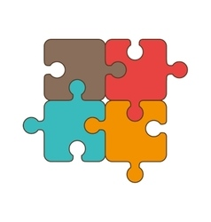 puzzle jigsaw piece vector image