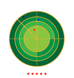 radar icon different color vector image vector image