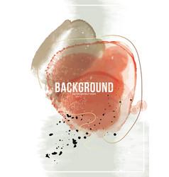 Red ink fluid design modern blob gradient waves vector