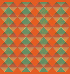 Retro triangle seamless pattern with grunge effect vector