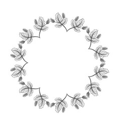 rustic plants branches in form of flower vector image