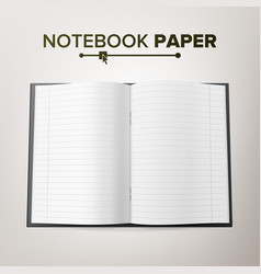 school notebook paper linked paper pages vector image
