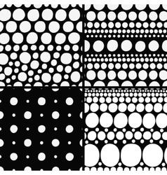 Seamless backgrounds set vector
