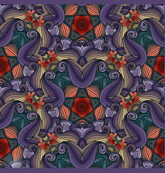 Seamless colored ornate pattern vector