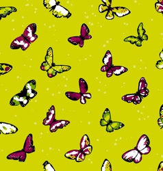 Seamless highly detailed background with butterfli vector