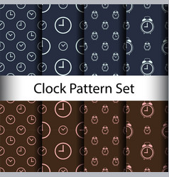 set alarm clock seamless pattern background vector image
