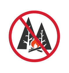 Sign no fire on a white background vector