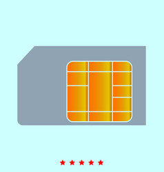 sim card it is icon vector image