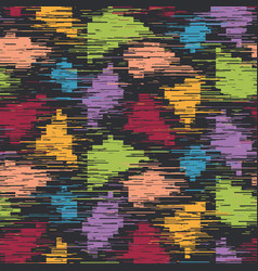 techno glitch error bug seamless pattern swatch vector image