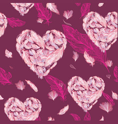 tender heart pattern vector image