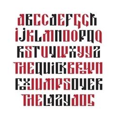 The latin stylization of Old slavic font vector