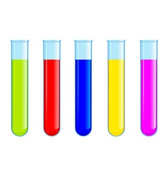 tubes with colored liquid vector image