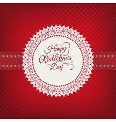 Valentines day vintage card EPS 10 vector image
