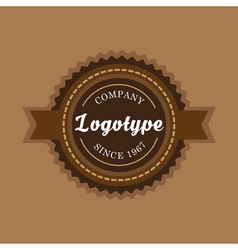 Vintage badge and label template vector image vector image