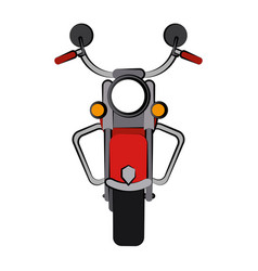 Vintage motorcycle frontview icon image vector