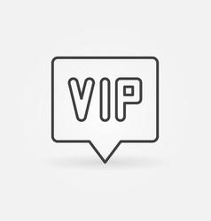 Vip in speech bubble outline icon vector