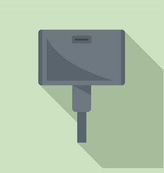 Wide adapter icon flat style vector