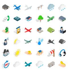 wind icons set isometric style vector image
