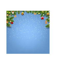 Winter christmas card with christmas toys vector